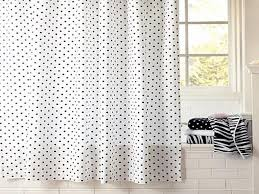 Black White Shower Curtain Polka Dot Shower Curtain And Black White Color Also Subway Wall