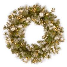 national tree company 24 glittery pomegranate pine wreath with