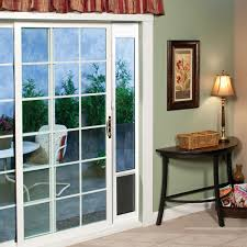Patio Door With Pet Door Built In Sliding Patio Door Reviews Outdoor Goods