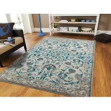 Area Rugs 5 X 8 Traditional Vintage Area Rug Distressed Rugs Blue Area Rugs On