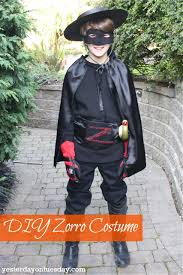 diy zorro costume yesterday on tuesday