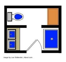 Bathroom Designs And Floor Plans With Separate Toilet  Sq Ft - Small bathroom designs and floor plans