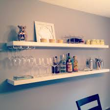 Ikea Shelves Wall by Easy Diy Bar Using 20 Ikea Shelves Via Www Livingwithaboy Com