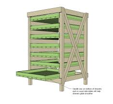 Wood Storage Shelf Design Plans by Ana White Food Storage Shelf Diy Projects