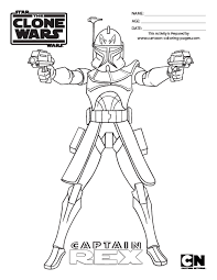 Star Wars Captain Rex Coloring Pages Wars Clone Coloring Pages