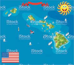 Hawaii Island Map Cartoon Map Of Hawaii Stock Vector Art 165903484 Istock