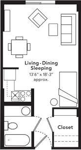 apartments 560 sqft studio apartment unit floor plan studio
