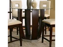 glass pub table and chairs cramco inc contemporary design emerson round tempered glass pub