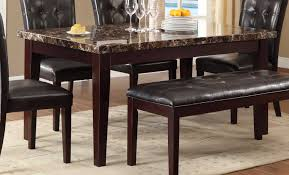 marble dining room set homelegance teague faux marble dining table espresso 2544 64