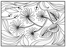 flower vines coloring page wild printable free coloring pages with