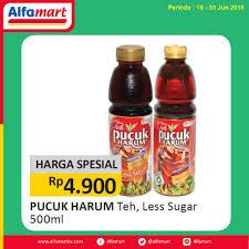 promo harga spesial alfamart teh pucuk harum hanya rp 4 900