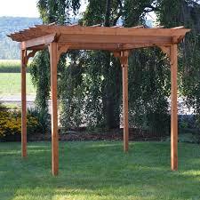 Swing Pergola A U0026amp L Furniture Western Red Cedar Swing Pergola Walmart Com