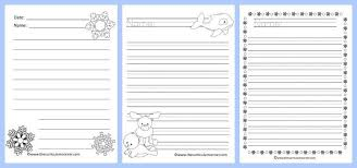 themed paper winter lined writing papers the curriculum corner 123