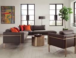 Open Concept Living Room by Milo Baughman Open Concept Living Room With Drop In Sectional And