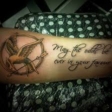 quote tattoo tumblr blogs the hunger games mockingjay and script tattoo by heart for art