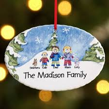 personalized winter family characters ornament walmart