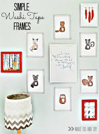 Gallery Wall Frames by Washi Tape Frames Make Do And Diy