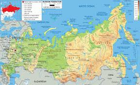 China Physical Map by Russian Physical Map Eurasian Geopolitics