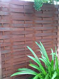 basketweave steel privacy fence gisler metal works pinterest