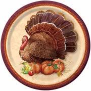 9 rustic turkey thanksgiving square dinner plates 8ct walmart