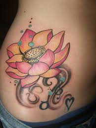 attractive lotus flower tattoo designs