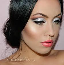 bridal makeup tutorial metallic silver bridal makeup tutorial fashionisers