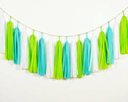 pink turquoise tassel garland lilly pulitzer inspired