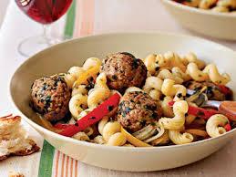 Pasta Sausage Pasta With Sausage Meatballs Peppers U0026 Onions Recipe Myrecipes