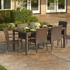 thy hom toria 7 piece wicker dining set modern wicker dining