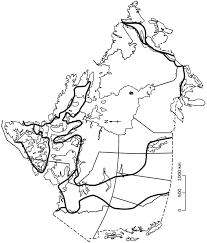 Canada Blank Map by Landform Regions Quinn9geography