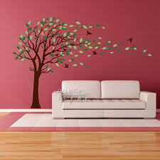 compare prices on vinyl cut stickers online shopping buy low baby nursery tree wall sticker birds leaves tree wall decal diy large tree wall decors children