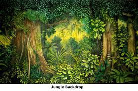jungle backdrop printed backdrops fabric canvas pav events
