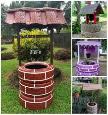 diy wishing well planter from recycled tires tire