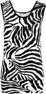 new womens ladies zebra print top leggings set stretchy vest top