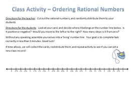 ordering rational numbers human number line active math tpt