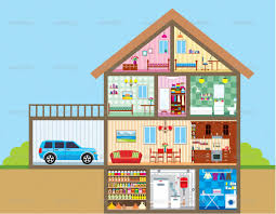 download house layout cartoon adhome