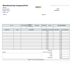 example commercial invoice commercial invoice excel template invoice template ideas