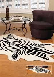 faux zebra hide rug 58
