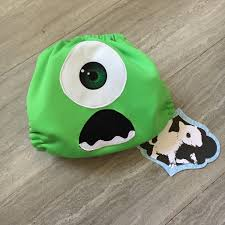 monsters inc mike wazowski cloth diaper cover or pocket