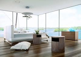 White Platform Bedroom Sets Modloft Chelsea 2 Piece Platform Bedroom Set In White Leather