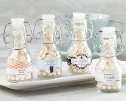 wedding party favors mini glass favor bottle with swing top set of 12 wedding