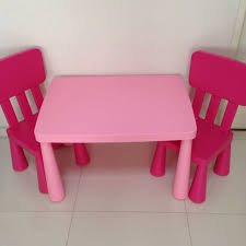ikea childrens table and chairs ikea mammut kids table chairs pink home furniture on carousell