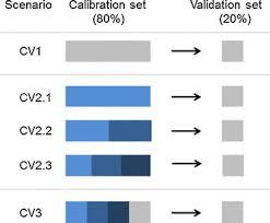 cross validation cv scenarios cv1 within cycle cv with lines in