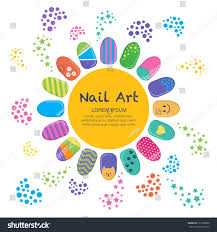 vector business card template nails art stock vector 371866030