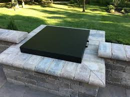 fire table cover rectangle luxury square fire pit cover square fire pit covers pittopper