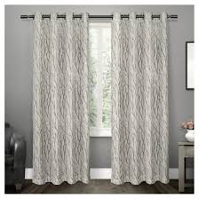 Curtain Pairs Beautiful Idea Curtain Panel Pairs Oakdale Textured Linen Motif