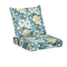 Deep Seat Patio Chair Cushions Hampton Bay Emerald Paradise 2 Piece Deep Seating Outdoor Lounge