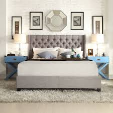 signal hills naples wingback button tufted upholstered king bed