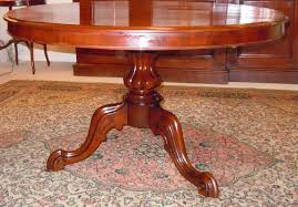 Salle A Manger Style Anglais by Round Table Dining Mahogany Blonde Foot Central Antique Trade