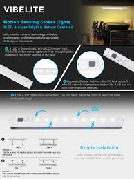 Led Stick On Lights Vibelite 9 Led Motion Sensing Closet Lights 2 Pack Diy Stick On